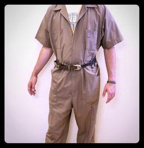 Vintage, Tan Boiler Jumpsuit with multi pockets